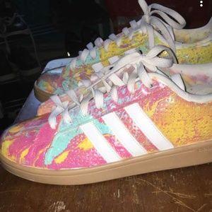 "Adidas cloudfoam""Miami Paint splatter"" custom"
